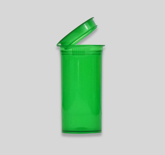 Translucent green 13 dram pop top bottle slide 2 of carousel
