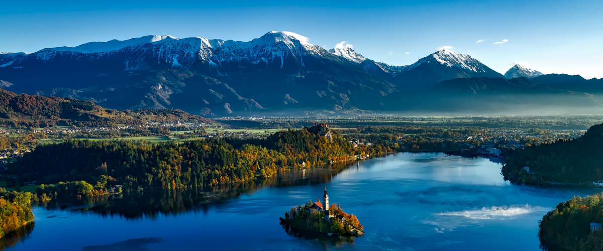 Bled Island and surrounding areas