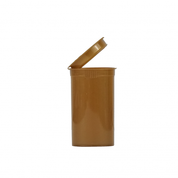 19 dram pop top bottle opaque gold side view