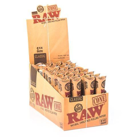 Raw pre-rolled cones class 1 1/4